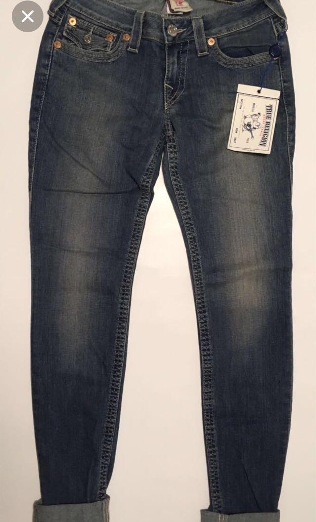 True Religion Skinny Jeans Women Size 27 Brand New W/ Tags Trial Blazer Apricot