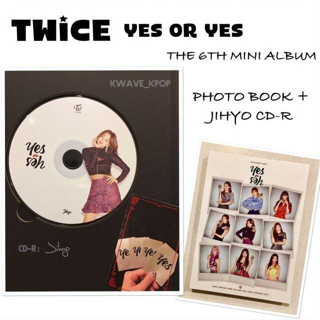 ✨TWICE THE 6TH MINI ALBUM [YES or YES]✨ - JIHYO CD-R + PHOTO BOOK (BRAND NEW)