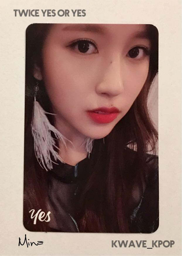 ✨TWICE THE 6TH MINI ALBUM YES or YES [MINA 미나]✨ - Authentic Official Photo Card