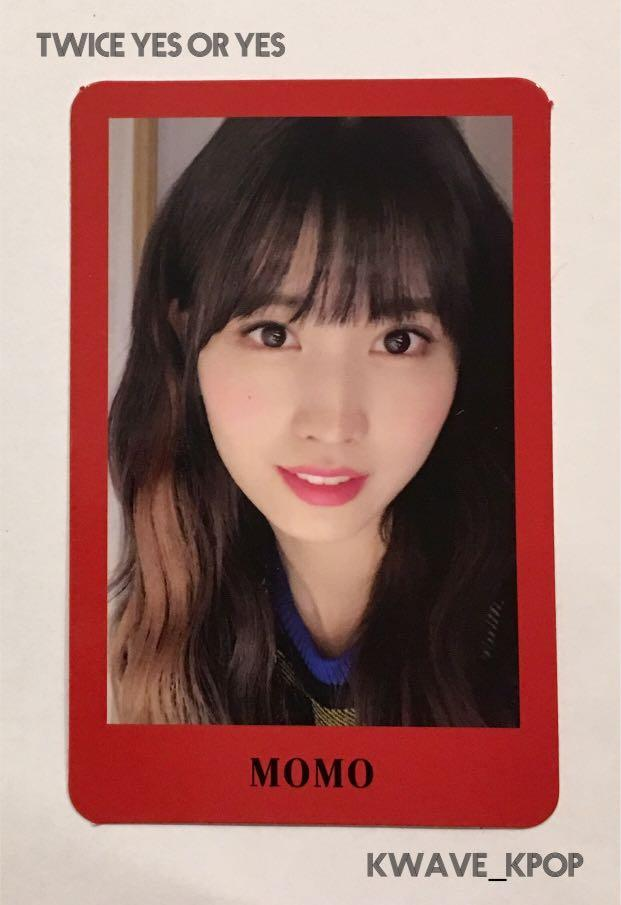 ✨TWICE THE 6TH MINI ALBUM YES or YES [MOMO 모모 ]✨ - Authentic Official Photo Card