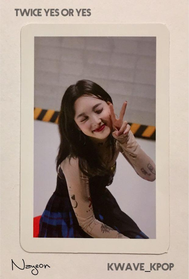 ✨TWICE THE 6TH MINI ALBUM YES or YES [NAYEON 나연]✨ - Authentic Official Photo Card