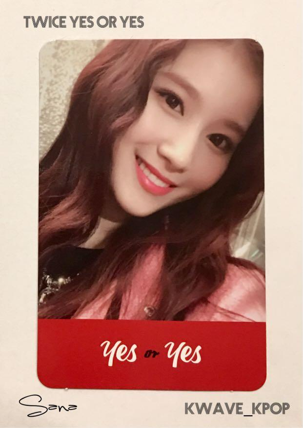✨TWICE THE 6TH MINI ALBUM YES or YES [SANA 사나]✨ - Authentic Official Photo Card