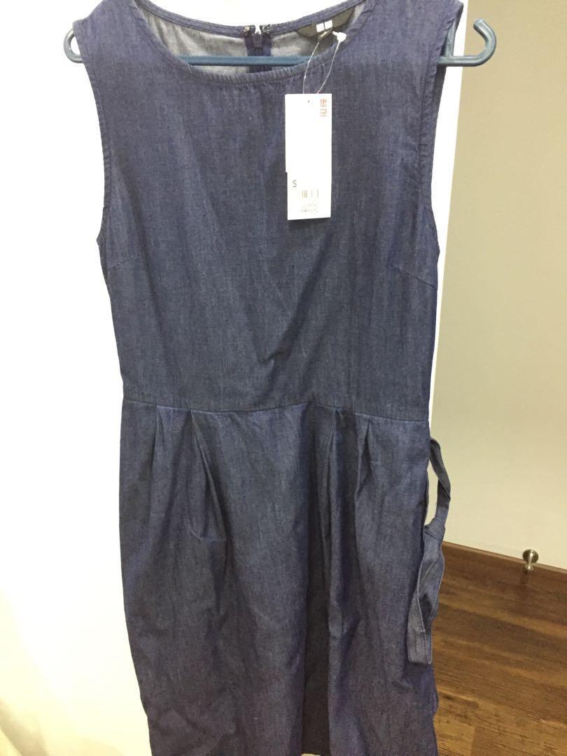 Uniqlo jeans shift dress