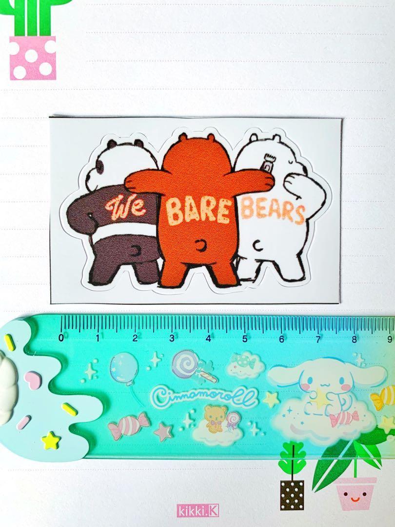 💖WATERPROOF💖 WeBareBears Shaved Backs Luggage / Laptop Sticker #475