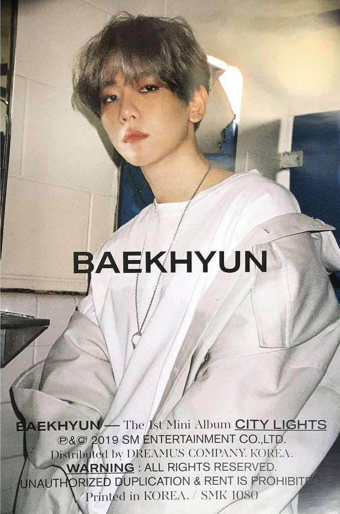 WTS Baekhyun City Lights Day Version Official Poster