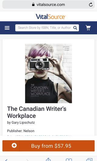 Canadian writers workplace book (ENglish)
