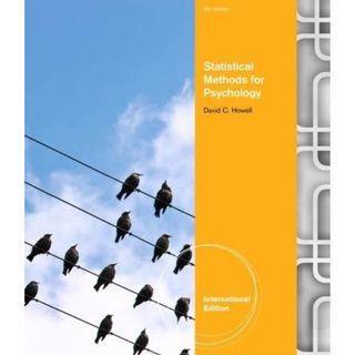 心理及教育統計學課本 Statistical Methods for Psychology by David C. Howell 8th Edition