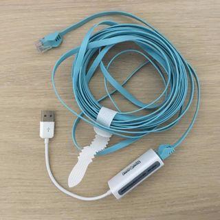 網路新 & USB轉接器 Internet cable & USB adapter