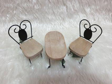 Barbie Wooden Garden/Tea Table Set