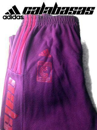Adidas calabasas trackpants maroon