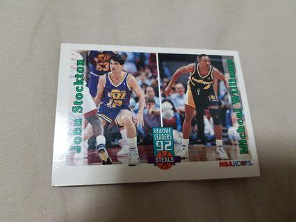 John Stockton and Micheal Williams- NBA Hoops