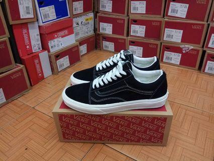 Sepatu Vans Old Skool Black Aspac Black White