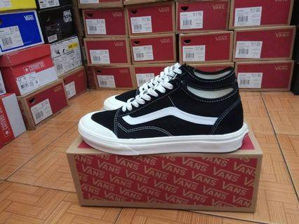 Sepatu Vans Old Skool Style 36 SF Salt Wash Black White