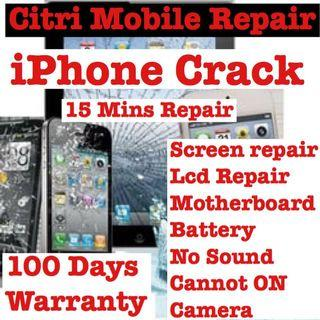 iPhone Crack LCD Screen Repair, Samsung Phone Repair service