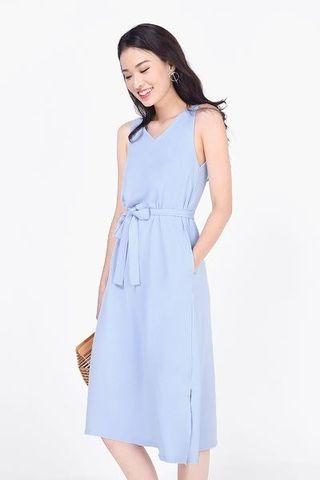 Lyn Slit Midi Dress
