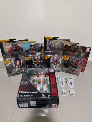 Transformers combiner wars superion silverbolt air raid alpha Bravo quickslinger skydive