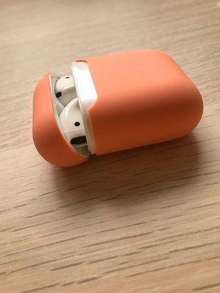 粉橘色Airpods保護套