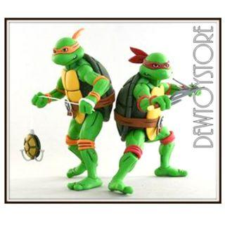 "⭐️<URGENT> [Pre-order] NECA Teenage Mutant Ninja Turtles TMNT 7"" scale Cartoon Series 2 - Michelangelo & Raphael 2-Pack ⭐️"