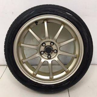 "17"" Sports Rim With Tyres 5X100 (SR182)"