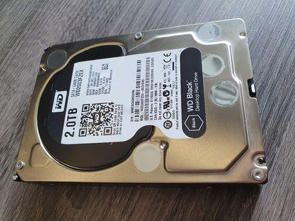 Performance WD 2TB black edition HDD