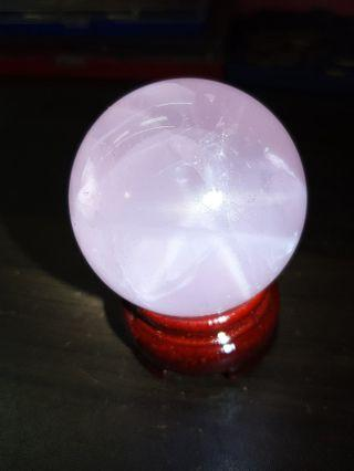 STAR RAYS ROSE QUARTZ BALL 星光粉晶球
