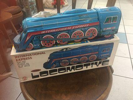 Vintage tin toy Locomotive Train ( friction movement)