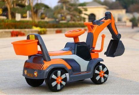 KIDS EXCAVATOR ELECTRIC 4 WHEELS CAR