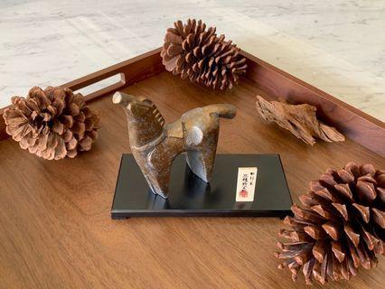日本已故名家 三枝惣太郎 馬銅雕