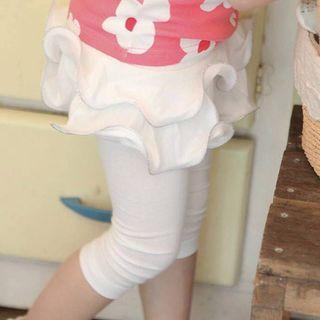 韓國熱門童裝~Pastel 立體波浪褲裙【現貨不用等】