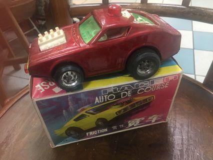 Vintage tin toy racer