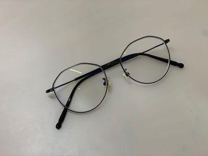 細黑框英倫風不規則眼鏡