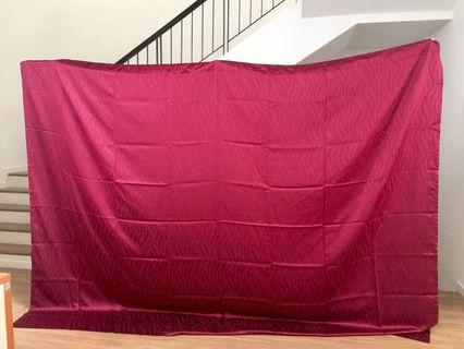 Maroon Curtain Set - BRAND NEW - Negotiable