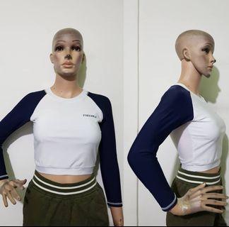 Long Sleeve blouse / top import / top kece / long top / long blouse / long crop /  atasan keren / baju lengan panjang / long Sleeve import )