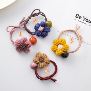 {朵朵韓飾} B3134 韓國直送(正韓)-甜美可愛圓球毛線花朵髮束(四色)