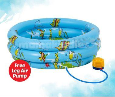 Inflatable 3 Rings Swimming Pool **FREE PUMP