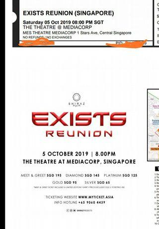 Concert Exists ticket for 2 @$200..