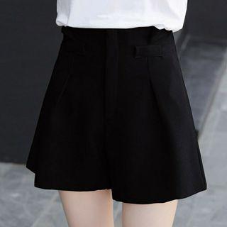 韓妞必備超顯瘦素色熱褲 西裝褲 短褲 高腰