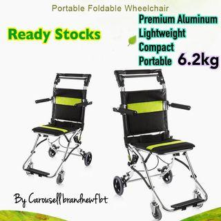 Wheelchair aluminum super lightweight travel wheelchair