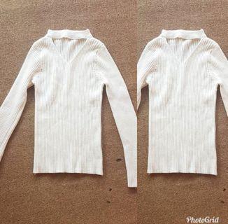 Knit long Sleeve blouse / blouse panjang / long Sleeve blouse import / blouse bkk / blouse panjang  / blouse cantik