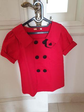 NEW-Blouse Merah