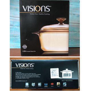 (只能宅配)【全新|鍋身法國製】美國康寧Visions晶彩透明鍋2.25L(VS-22)