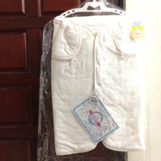嬰兒包巾式大衣外套(粉紅色)