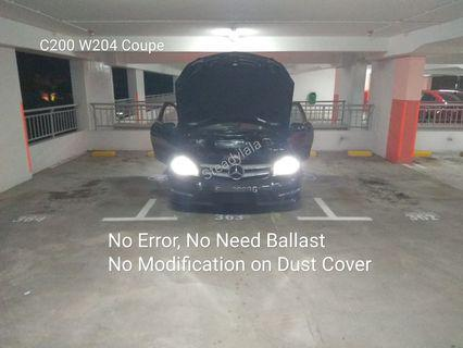 Customised Led Chip or Cree Eutectic Bulb on Mercedes C200 W204 H7 Headlight no error also in H4 H8 H11 HB3 9005