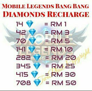 Topup diamond ml
