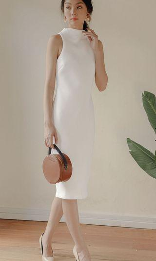 KENZIE SHEATH MIDI IN WHITE