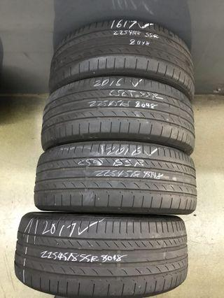 225/45/18 continental ssr run flat used tyre