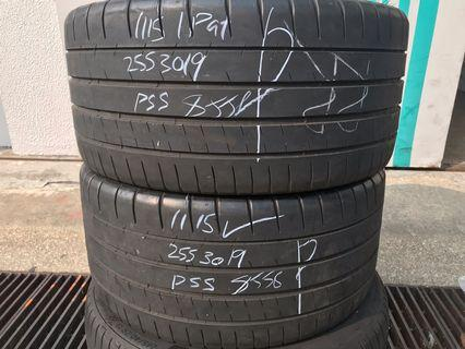 255/30/19 michelin pss used tyre