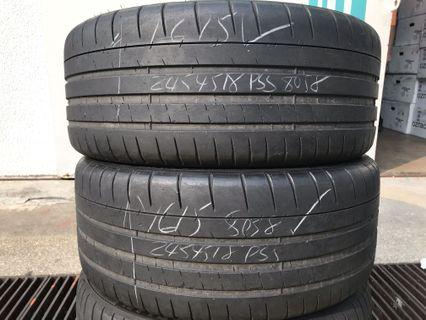 245/45/18 michelin pss old tyre $45