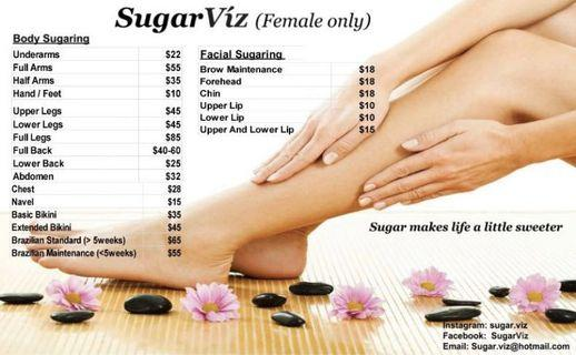 Sugaring hair removal services
