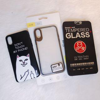 iphone X 手機殼+玻璃貼